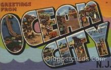 LLT100376 - Ocean City, New Jersy, USA Large Letter Towns Postcard Postcards