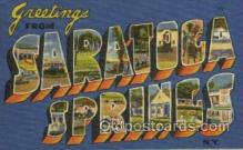 LLT100379 - Saratoca Springs, N.Y., USA Large Letter Towns Postcard Postcards