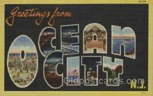 LLT100381 - Ocean City, New Jersy, USA Large Letter Towns Postcard Postcards