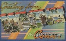 LLT100387 - Bridgeport Conn, USA Large Letter Towns Postcard Postcards