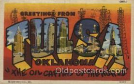 LLT100388 - Tulsa, Oklahoma, USA Large Letter Towns Postcard Postcards