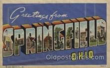 LLT100390 - Springfild, OHIO, USA Large Letter Towns Postcard Postcards