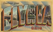 LLT100391 - Elyria, Ohio, Usa Large Letter Towns Postcard Postcards