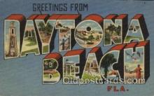 LLT100394 - Daytona Beach, Florida, USA Large Letter Towns Postcard Postcards