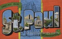 LLT100396 - St. Paul, Minnesota, USA Large Letter Towns Postcard Postcards