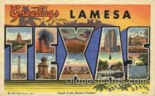 LLT100399 - Lamesa, Texas, USA Large Letter Towns Postcard Postcards