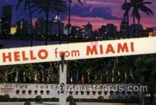 LLT100403 - Miami, USA Large Letter Towns Postcard Postcards
