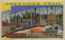 LLT100406 - Richmond, Indiana, USA Large Letter Towns Postcard Postcards