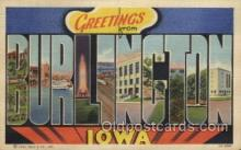 LLT100407 - Burlincton, Iowa, USA Large Letter Towns Postcard Postcards