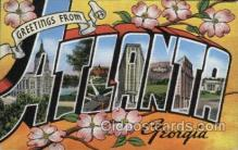 LLT100408 - Atlanta, Georgia, USA Large Letter Towns Postcard Postcards