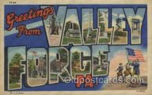 LLT100409 - Valley Forge, Pa., USA Large Letter Towns Postcard Postcards