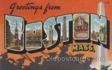 LLT100411 - Boston Mass, USA Large Letter Towns Postcard Postcards