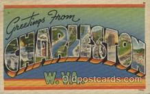 LLT100412 - Charleston W. Va., USA Large Letter Towns Postcard Postcards