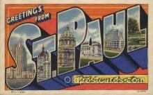 LLT100414 - St. Paul, Minnesota, USA Large Letter Towns Postcard Postcards