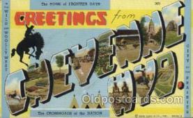 LLT100416 - Cheyenne Wyd., USA Large Letter Towns Postcard Postcards