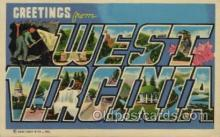 LLT100420 - West Vircinia, USA Large Letter Towns Postcard Postcards