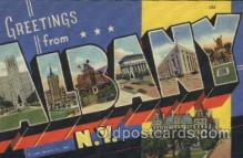 LLT100422 - Albany, N.Y., USA Large Letter Towns Postcard Postcards