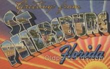 LLT100423 - St. Petersburg, Florida, USA Large Letter Towns Postcard Postcards