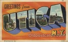 LLT100426 - Utica, New York, USA Large Letter Towns Postcard Postcards