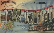 LLT100428 - Massachusetts, USA Large Letter Towns Postcard Postcards