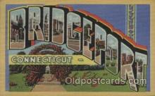 LLT100429 - Bridgeport Conn, USA Large Letter Towns Postcard Postcards