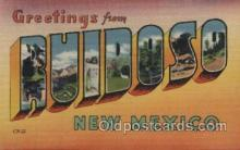 LLT100431 - Ruidoso, New Mexico, USA Large Letter Towns Postcard Postcards