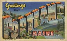 LLT100435 - Portland, Maine, USA Large Letter Towns Postcard Postcards