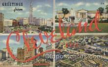 LLT100436 - Cleveland, OHIO, USA Large Letter Towns Postcard Postcards