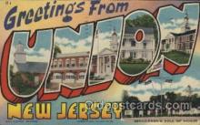 LLT100439 - Union, New Jersey, USA Large Letter Towns Postcard Postcards