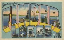 LLT100440 - Finger lakes, New York, USA Large Letter Towns Postcard Postcards