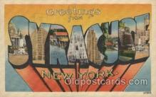 LLT100441 - Syracuse, New York, USA Large Letter Towns Postcard Postcards