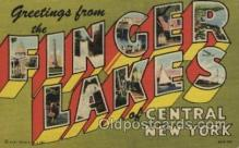 LLT100451 - Finger lakes, New York, USA Large Letter Towns Postcard Postcards