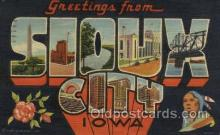 LLT100455 - Sioux city, Iowa, USA Large Letter Towns Postcard Postcards