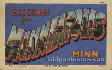 LLT100456 - Minneapolis, Minn, USA Large Letter Towns Postcard Postcards