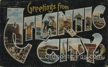 LLT100459 - Atlantic City Boardwalk, USA Large Letter Towns Postcard Postcards