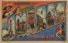 LLT100460 - Juarel, Old Mexico, USA Large Letter Towns Postcard Postcards