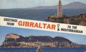 LLT100462 - Gibraltar, Mediterranean Large Letter Towns Postcard Postcards