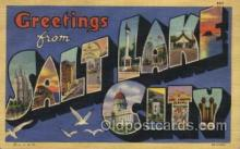 LLT100463 - Salt Lake City, USA Large Letter Towns Postcard Postcards