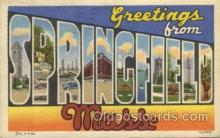 LLT100464 - Springfild,Mass, USA Large Letter Towns Postcard Postcards