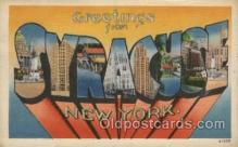 LLT100465 - Syracuse, New York, USA Large Letter Towns Postcard Postcards