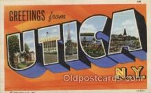 LLT100467 - Utica, New York, USA Large Letter Towns Postcard Postcards