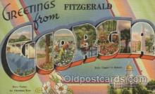 LLT100471 - Fitzgerald, Georgia, USA Large Letter Towns Postcard Postcards