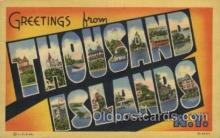 LLT100473 - Thousand Islands, USA Large Letter Towns Postcard Postcards
