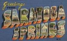 LLT100475 - Saratoca Springs, N.Y., USA Large Letter Towns Postcard Postcards