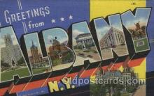 LLT100476 - Albany, N.Y., USA Large Letter Towns Postcard Postcards