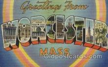 LLT100484 - Worcester, Mass, Usa Large Letter Towns Postcard Postcards