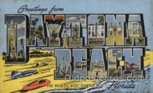 LLT100485 - Daytona Beach, Florida, USA Large Letter Towns Postcard Postcards