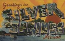 LLT100487 - Silver Springs, Florida, USA Large Letter Towns Postcard Postcards
