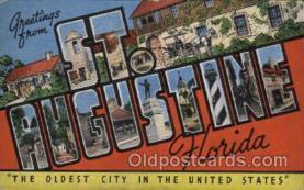 LLT100488 - St. Augustine, Florida, USA Large Letter Towns Postcard Postcards