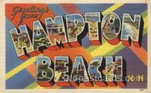 LLT100490 - Hampton Beach, N.H., USA Large Letter Towns Postcard Postcards